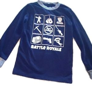 Fortnite  battle royale boys pajama top size 12